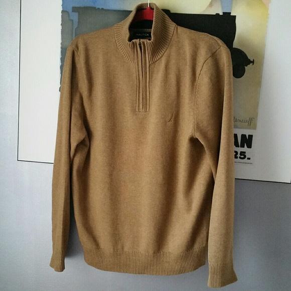 Nautica Sweaters Mens Brown Mock Turtleneck Sweater Poshmark